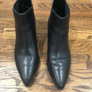 Marc Fisher LTD Black Snake Print Yale Booties